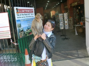 Still can't decide, who looks worse here, me or the monkey!
