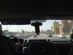 Cairo from the car