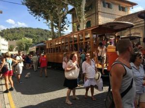 Old tram from Port de Soller to Soller village. €5 one way.